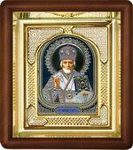 Николай Чудотворец, малая аналойная икона, риза (Д-3с-28)