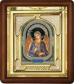 Ангел Хранитель, малая аналойная икона, риза (Д-3с-04)