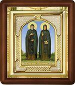 Петр и Феврония, малая аналойная икона, риза (Д-3с-49)
