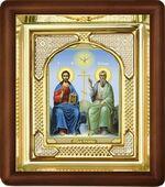 Троица, малая аналойная икона, риза (Д-3с-61)