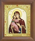 Владимирская Б.М. Икона в деревянной рамке с окладом (Д-25псо-30)