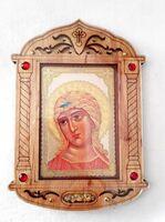 Ангел Златовласый. Икона настольная, резная, фигурная, JERUSALEM
