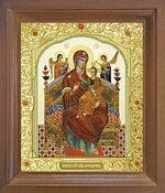 Всецарица Б.М. Икона в деревянной рамке с окладом (Д-25псо-31)