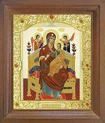 Всецарица Б.М. Икона в деревянной рамке с окладом (Д-26псо-31)