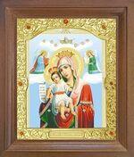 Достойно Есть Б.М. Икона в деревянной рамке с окладом (Д-26псо-33)