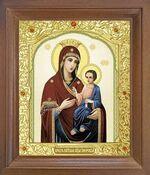 Иверская Б.М. Икона в деревянной рамке с окладом (Д-25псо-34)