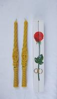 Свечи венчальные малые (33 см), восковые (в праздничной упаковке)
