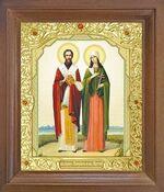 Киприан и Устинья. Икона в деревянной рамке с окладом (Д-25псо-35)
