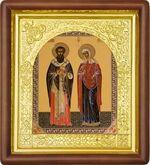 Киприан и Устинья, средняя аналойная икона (Д-17пс-35)