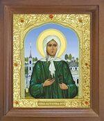 Ксения Петербургская. Икона в деревянной рамке с окладом (Д-25псо-36)