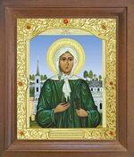 Ксения Петербургская. Икона в деревянной рамке с окладом (Д-26псо-36)
