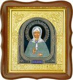 Матрона Московская, средняя аналойная икона, фигурный киот (Д-17фс-38)