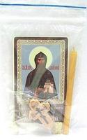 Даниил Московский. Святой князь. Набор для домашней молитвы (Zip-Lock). Лик, молитва, свечка, ладан, крестик