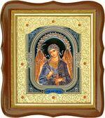 Ангел Хранитель, средняя аналойная икона, фигурный киот (Д-20фс-04)