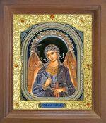 Ангел Хранитель. Икона в деревянной рамке с окладом (Д-25псо-04)