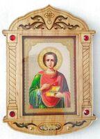 Пантелеймон. Икона настольная, резная, фигурная, JERUSALEM