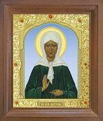 Матрона Московская. Икона в деревянной рамке с окладом (Д-25псо-40)