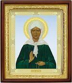 Матрона Московская, икона в деревянной рамке (Д-18пс-40)
