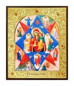 Неопалимая Купина Б.М.. Икона в окладе малая (Д-22-41)