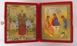 Складень мал.карт.(Ксения Петербургская (3), Троица (Рублев)