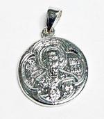 Образок нательный литой (44) Свт. Николай, цвет серебро