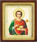 Пантелеймон, икона в деревянной рамке (Д-18пс-47)