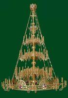 Паникадило (№ 47), 3-ярусное (54 свечи), с хоросом на 32 свечи