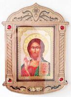 Спаситель. Икона настольная, резная, фигурная, JERUSALEM