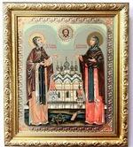Петр и Феврония, Икона в багетной рамке 19 Х 22