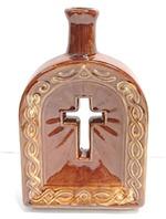 """Сосуд для святой воды """"Крест"""", цвет коричневый"""