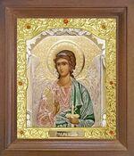 Ангел Хранитель. Икона в деревянной рамке с окладом (Д-25псо-05)