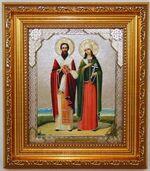 Киприан и Устинья, Икона в багетной рамке 14 Х 16, партия 20 шт.