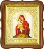 Почаевская Б.М., средняя аналойная икона, фигурный киот (Д-17фс-51)