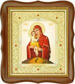 Почаевская Б.М., средняя аналойная икона, фигурный киот (Д-20фс-51)