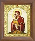 Почаевская Б.М. Икона в деревянной рамке с окладом (Д-25псо-51)