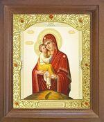 Почаевская Б.М. Икона в деревянной рамке с окладом (Д-26псо-51)