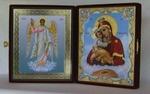 Складень бол.карт.(Ангел Хранитель ростовой, Почаевская (2)