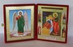 Складень бол.карт.(Ангел-Хранитель ростовой (2), Целительница Б.М.)