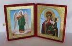 Складень бол.карт.(Ангел-Хранитель ростовой (2), Отрада и Утешение (2)