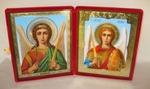 Складень бол.карт.(Ангел-Хранитель (поясной), Архангел Михаил (поясной)