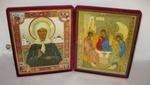 Складень бол.карт.(Матрона с клеммами (3), Троица (Рублев)