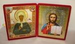 Складень бол.карт.(Матрона с клеммами (3), Спаситель (1)