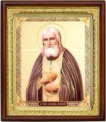 Серафим Саровский, икона в деревянной рамке (Д-18пс-55)
