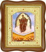 Спорительница хлебов Б.М., средняя аналойная икона, фигурный киот (Д-20фс-57)