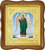 Ангел Хранитель, средняя аналойная икона, фигурный киот (Д-17фс-06)