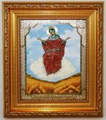 Спорительница хлебов  Б.М. Икона в багетной рамке 14 Х 16