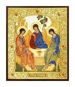 Троица. Икона в окладе малая (Д-22-62)