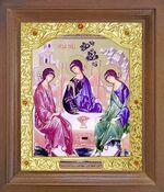 Троица. Икона в деревянной рамке с окладом (Д-26псо-62)