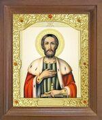 Александр Невский. Икона в деревянной рамке с окладом (Д-26псо-68)