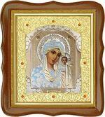Казанская Б.М., средняя аналойная икона, фигурный киот (Д-20фс-07)